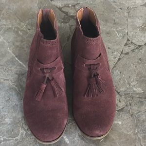 Dolce Vita Wine Suede Booties